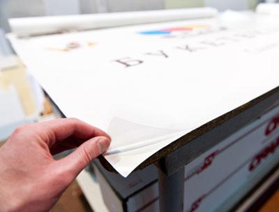 рекламная печать на плёнке